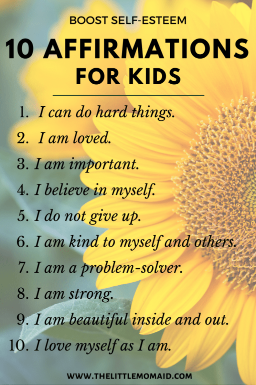 10 positive affirmation for kids to boost self-confidence
