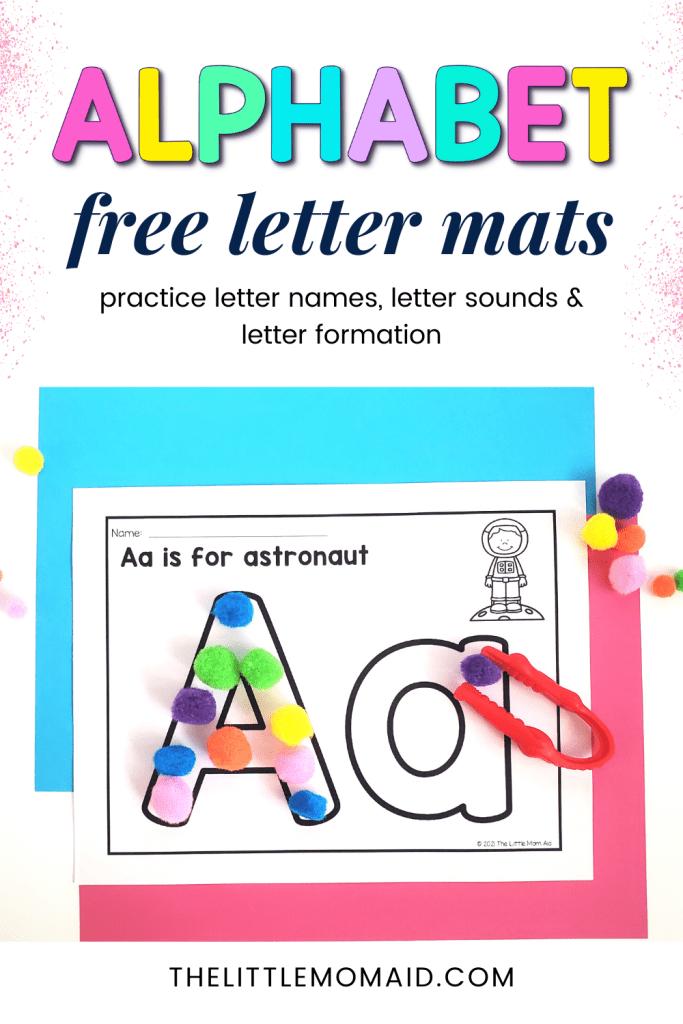free alphabet letter mats
