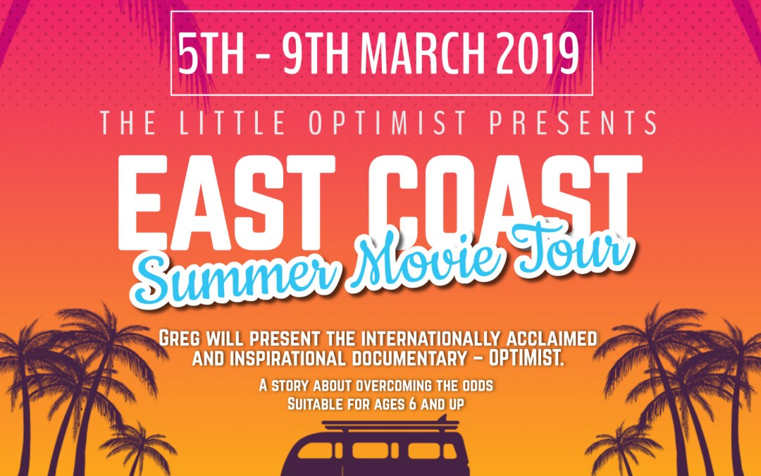 THE LITTLE OPTIMISTS EAST COAST FUNDRAISER TOUR