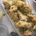 garlic parmesan wings top view