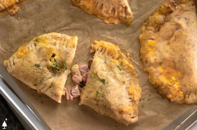 closer view of keto pizza sandwich