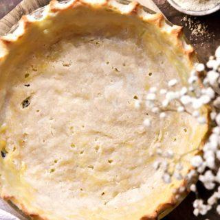 closer view of almond flour pie crust