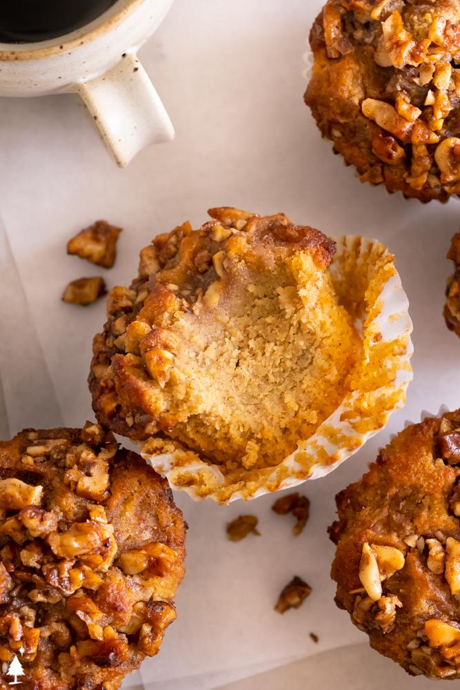 top view of gluten free pumpkin muffins