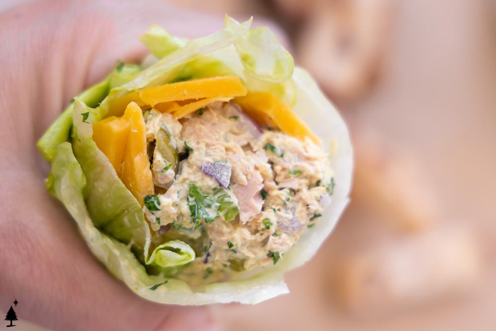 one roll of healthy tuna salad