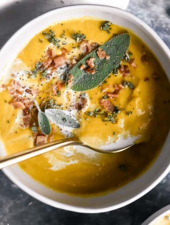 top view of keto butternut squash recipes