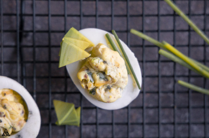 This ain't your mama's deviled egg recipe, this is the spicy, creamy, crunchy jalapeno deviled eggs recipe OF YOUR DREAMS! Check out this caliente take on a classic app!