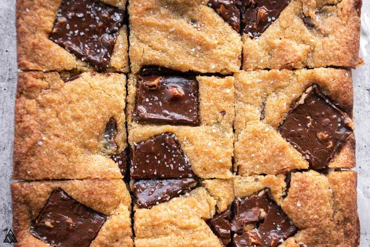 top view of low carb cookie bars