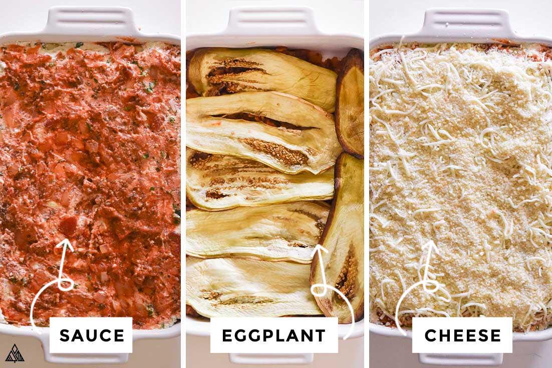 steps on how to make an eggplant lasagna