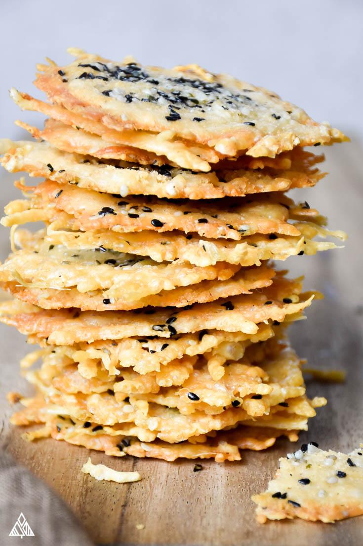 parmesan crisps, no carb snack
