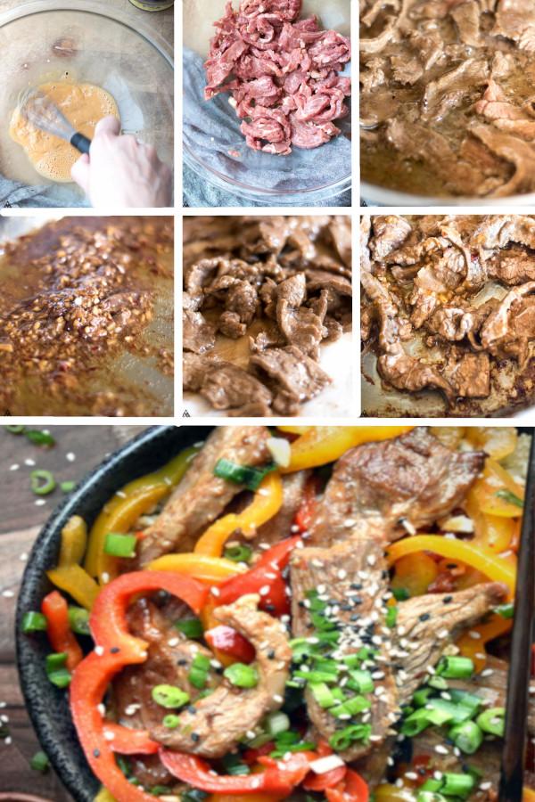 Low carb, paleo, Chinese food perfection. Hunan Beef Recipe ? #lowcarb #keto #glutenfree #grainfree #healthy #recipe #chinesefood #crockpot #spicy #paleo #stirfry #flanksteak #vegetable #vegetableoil #arrowroot #sherry #salt #pepper #coconutaminos #onions