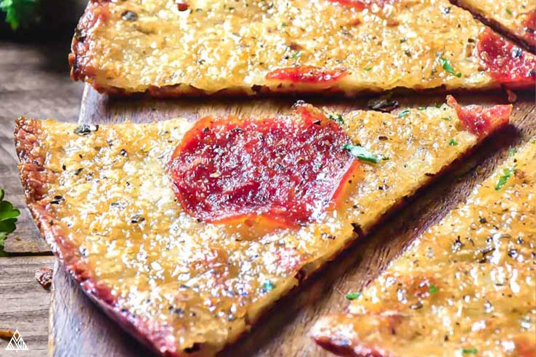freshly sliced Crustless Pizza