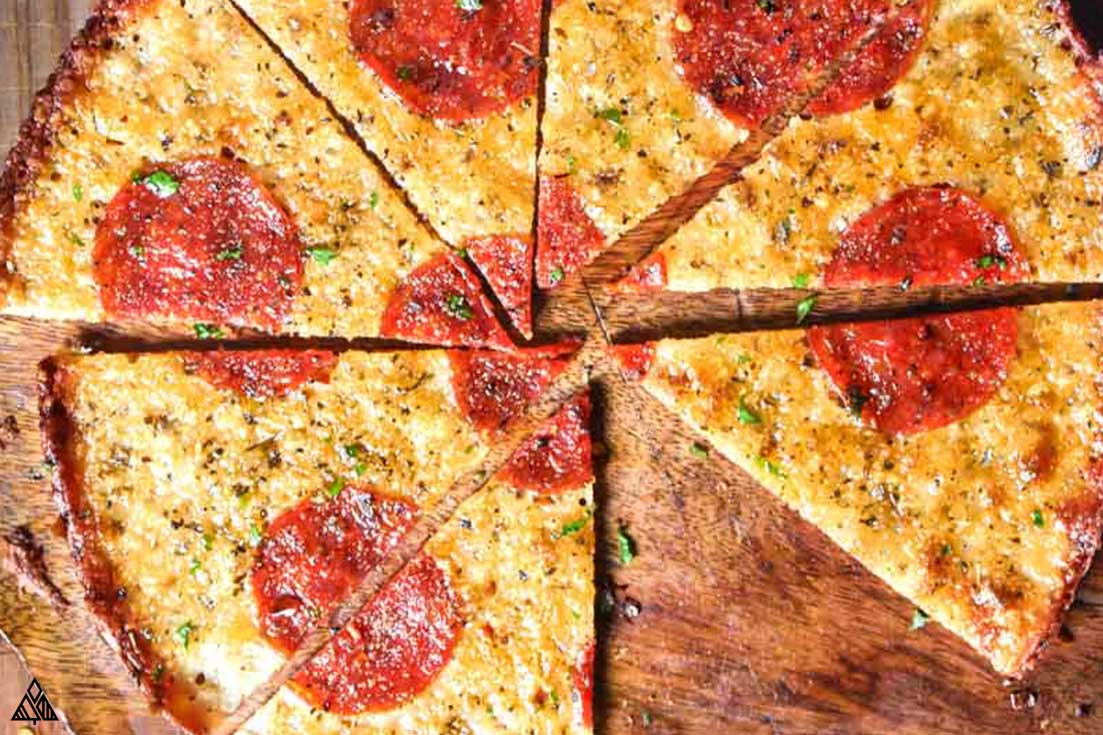overhead Crustless Pizza
