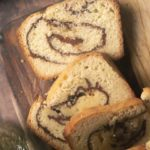 slice of low carb cinnamon swirl bread