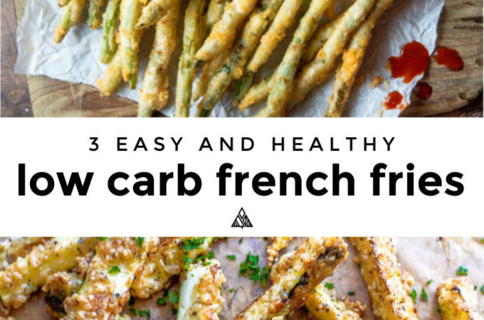 infographic of various low carb french fries
