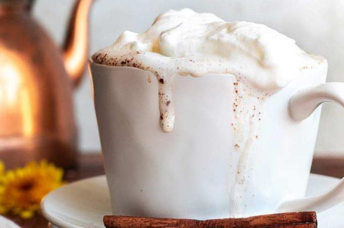 A cup of sugar free pumpkin spice latte