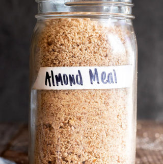Almond meal in a small jar