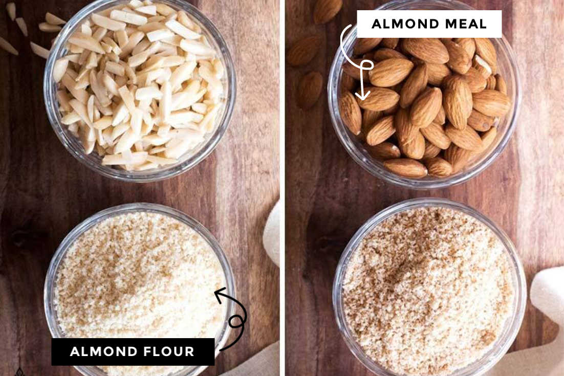 the difference between homemade almond meal and homemade almond flour