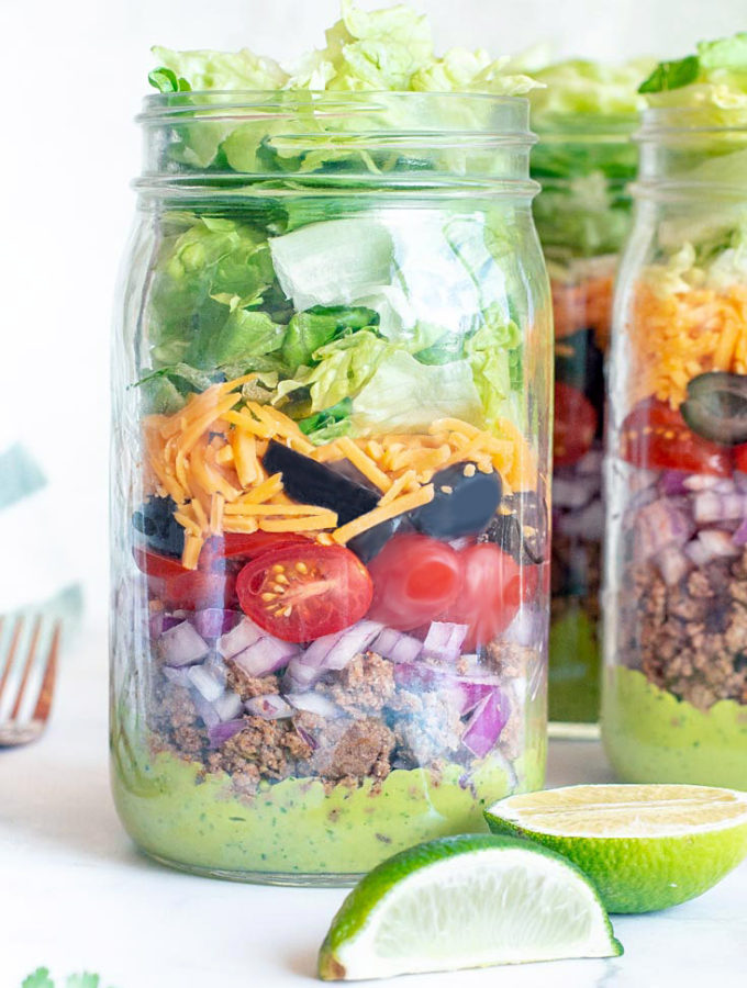 Meal Prep Keto Taco Salad