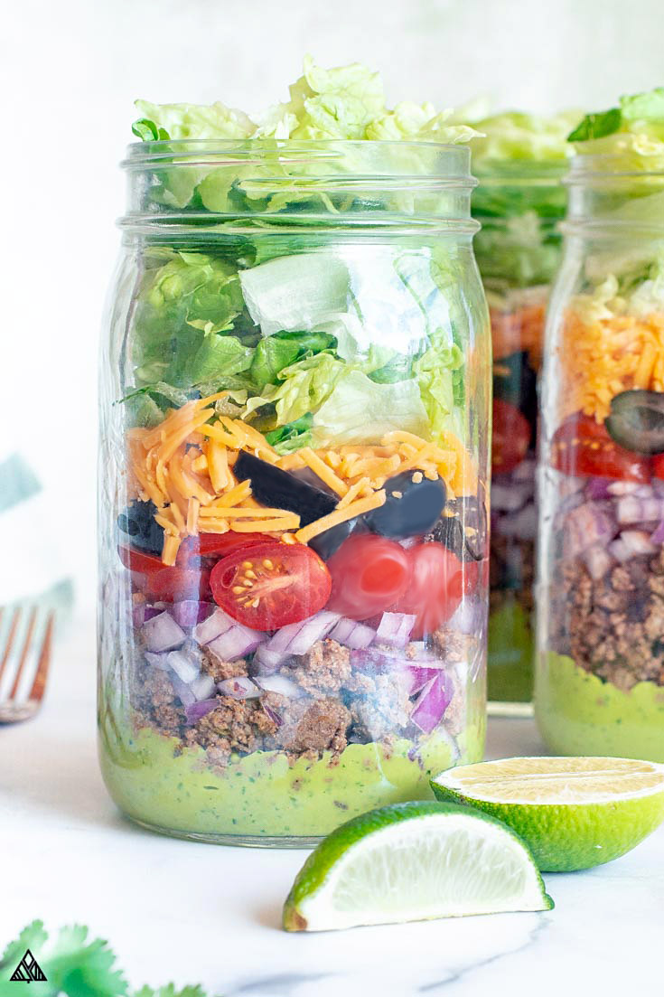 3 jars of keto taco salad