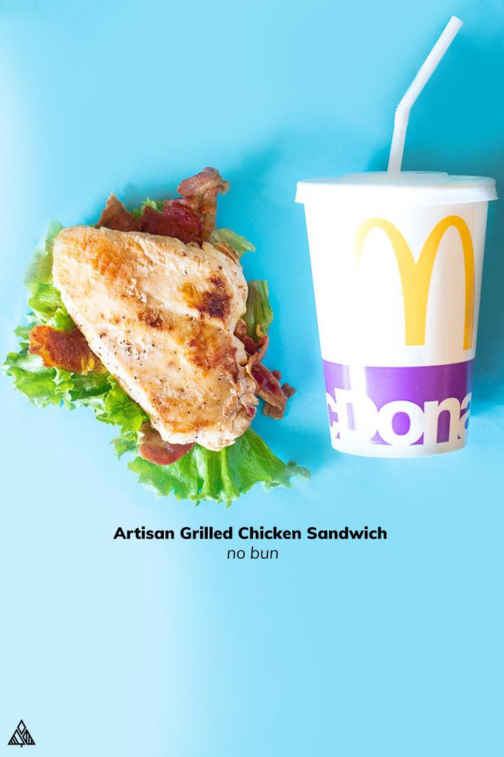 Mcdonalds sandwich and drink