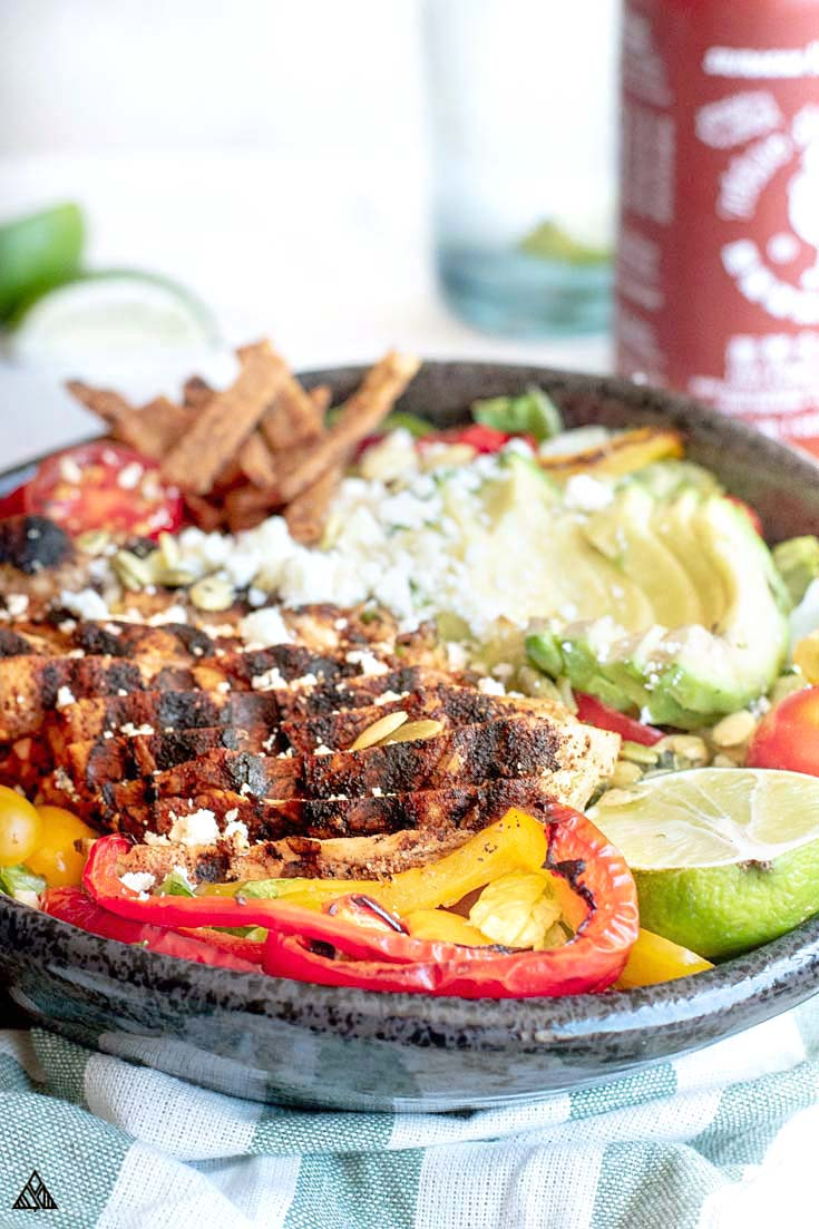 Low carb taco salad in a pan
