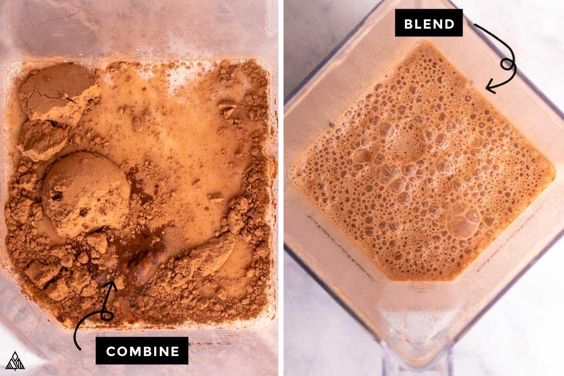 Process of making keto chocolate milk