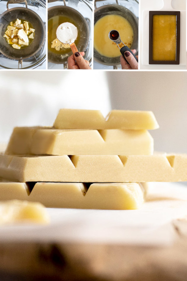 ?If you LOVE white chocolate as much as I do, you're gonna love this sugar free white chocolate recipe! I use it to make white chocolate chips, white chocolate bark and white chocolate bars for low carb desserts! Stir in roasted nuts and unsweetened shredded coconut for a major treat ??#sugarfreewhitechocolate #lowcarbwhitechocolate
