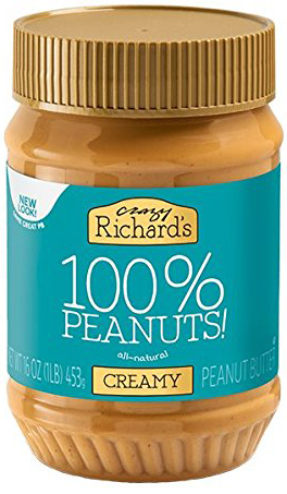 low carb peanut butter, richards 100% peanuts