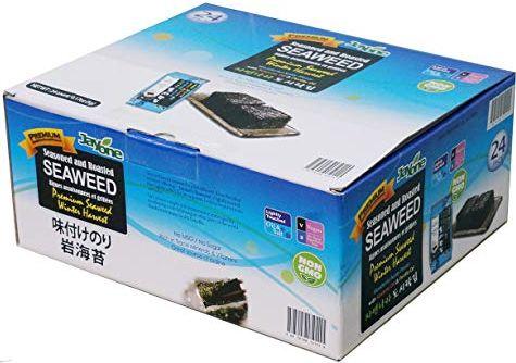 seaweed, no carb snack