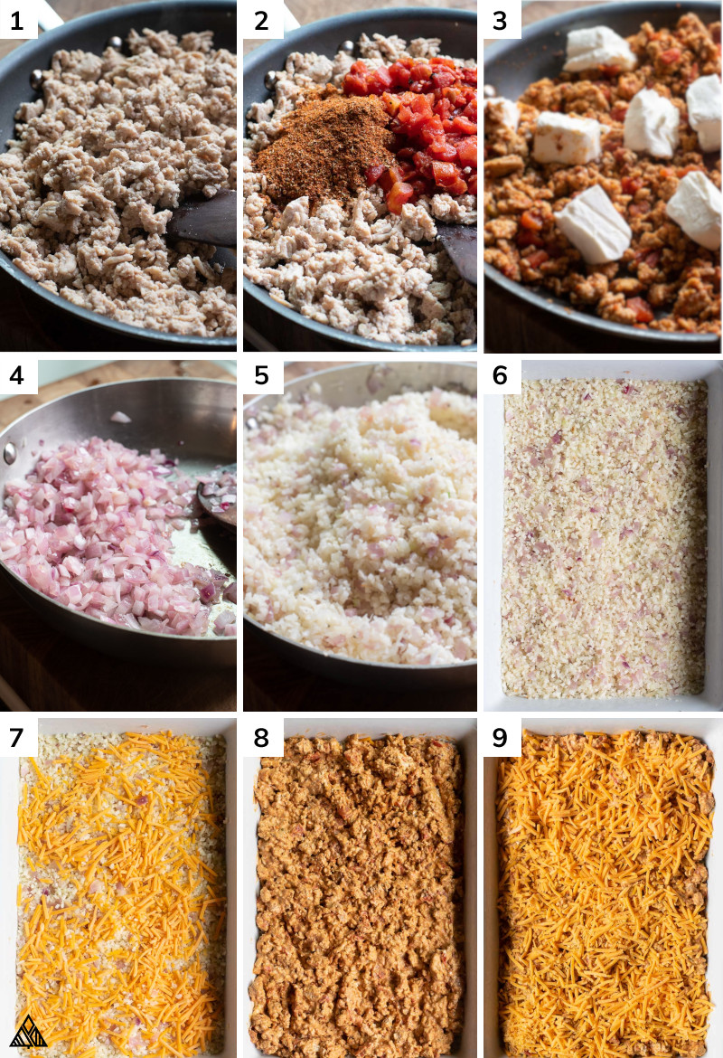 Process in making ground chicken casserole