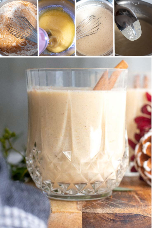 What's your favorite holiday cocktail? ❤️?❤️? . If you said eggnog, then you're in luck. Because I just whipped up a delicious recipe for keto eggnog that none of my friends could tell was a low carb recipe! #lowcarbeggnog #ketoeggnog