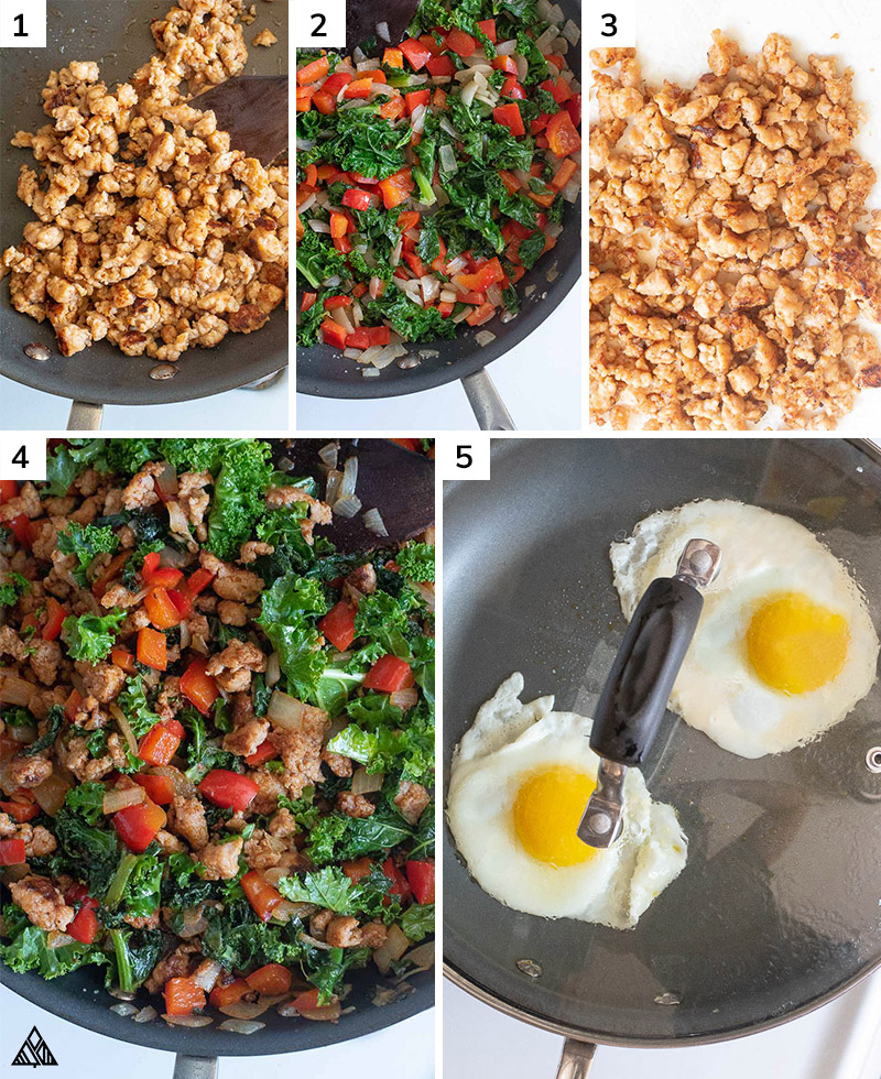 Process of making low carb mexican breakfast bowl
