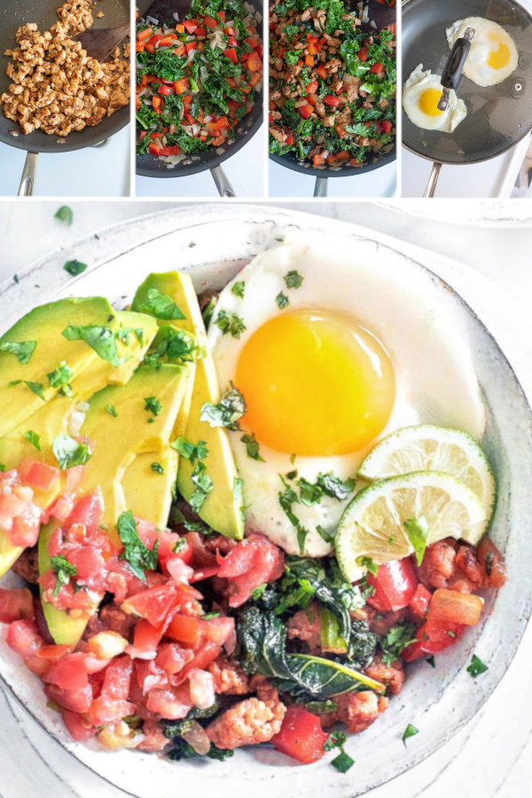 On a scale of 1-10, how good are you with spicy food? ??? . I. Am. A. Wimp. But my recipe tester @lone_wrangler is not! Which is why I make these low carb Mexican breakfast bowl. His bowl has a ton of spice, and mine is nice and mild. Easy to customize and SUPER DELICIOUS! #ketomexicanbreakfastbowls #lowcarbmexicanbreakfastbowls