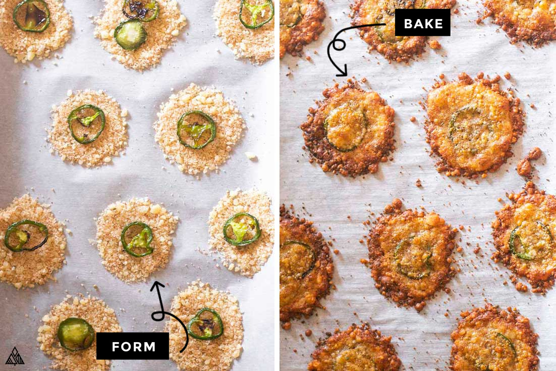 how to make jalapeno parmesan crisps
