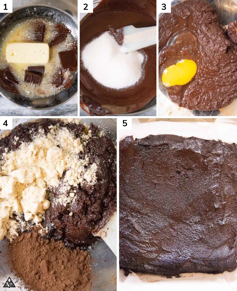 Steps in making low carb brownies