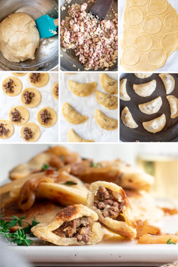 When you think of keto dumplings, do you think of potstickers or pierogies? ?❤️ . I think of pierogies since we just got back from Poland, and they sold them at every restaurant and on street corner! This dough is super delicious and easy to work with, so stuff it with whatever you're craving! #ketodumplings #lowcarbdumplings