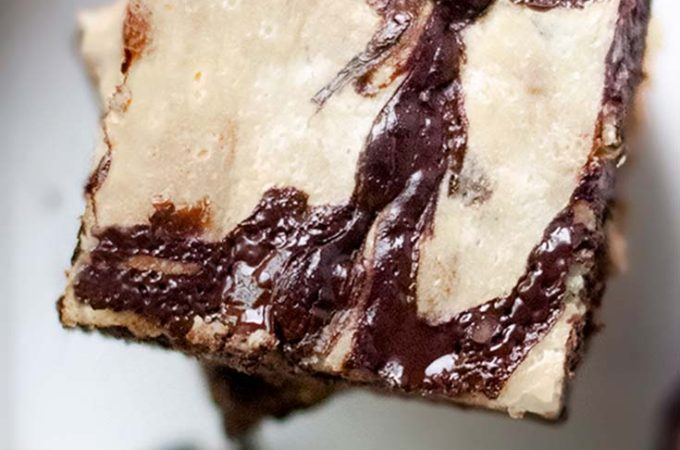 Top view of low carb brownies