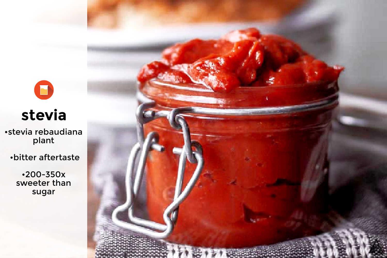 keto sweetener stevia used in low carb ketchup