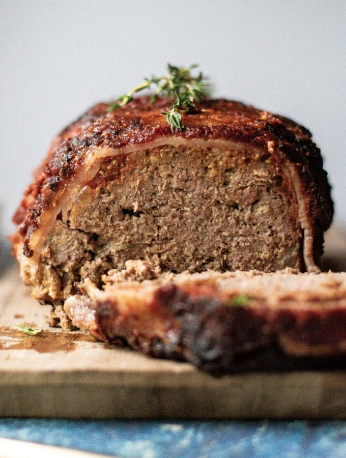 Bacon Wrapped Meatloaf (Keto + Low Carb!)
