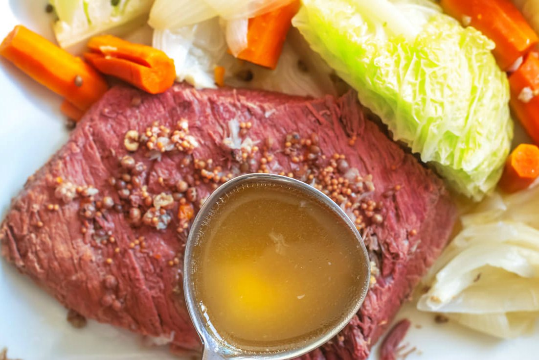 Adding a glaze in to the corned beef