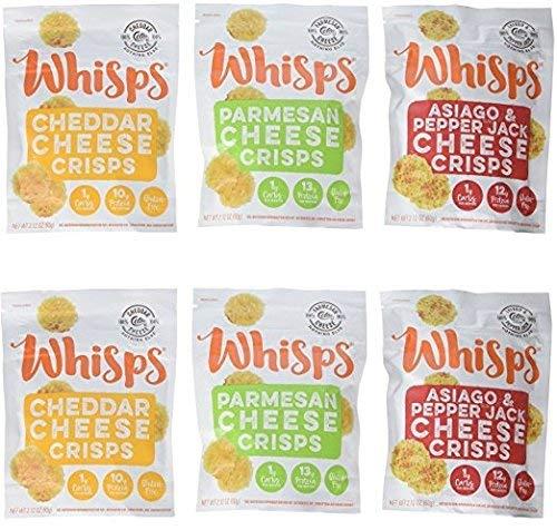 carb free snacks, cello whisps cheese crisps