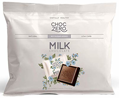 carb free snacks, choczero premium milk chocolate
