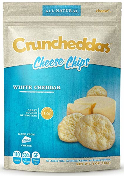 carb free snacks, cruncheddas cheese chips