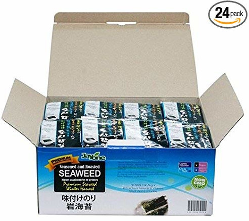 carb free snacks, jayone roasted lightly salted seaweed
