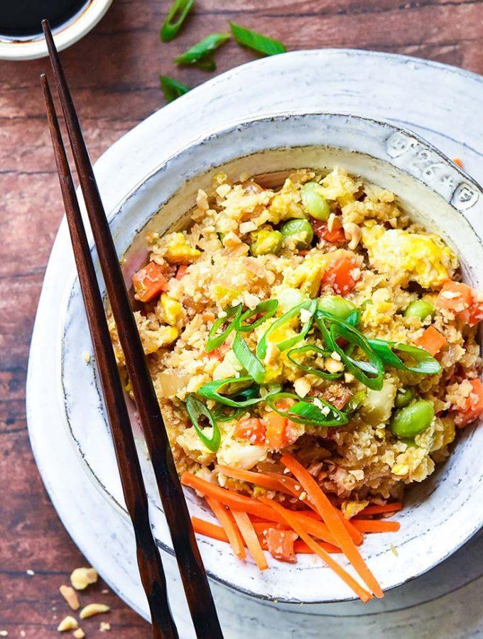 Amazing Cauliflower Fried Rice!! Low Carb + Paleo Variations