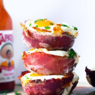 Egg muffin cups on top of each other