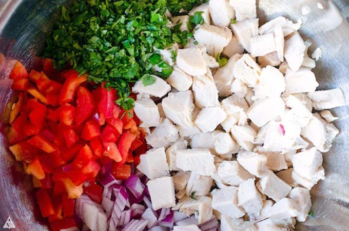Ingredients for mexican chicken salad
