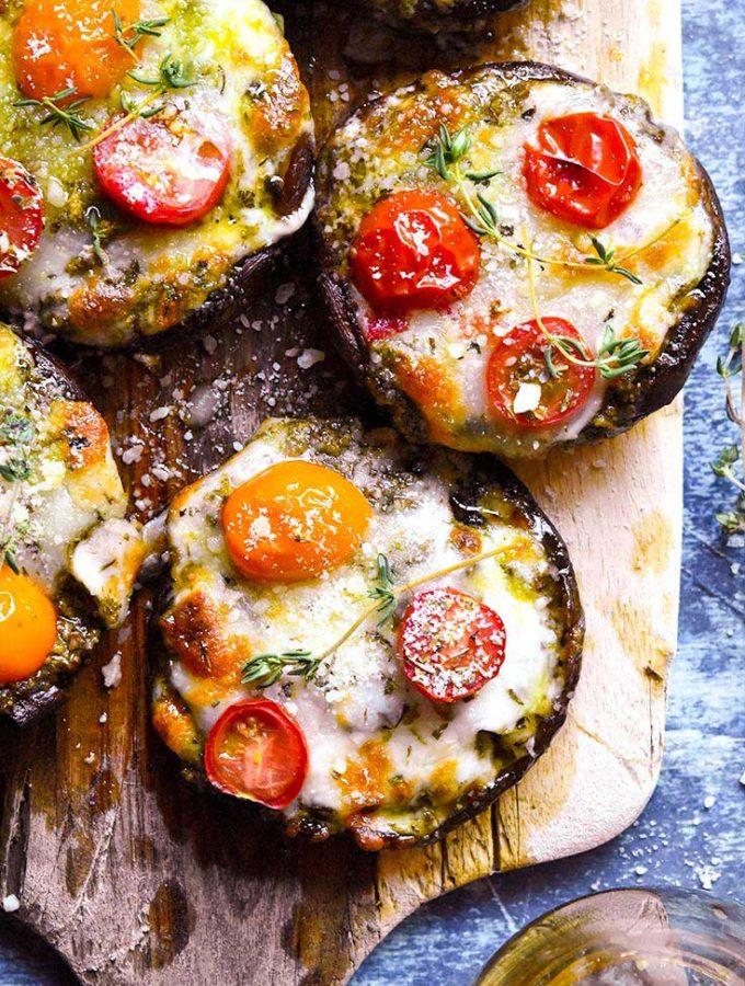 Portobello Mushroom Pizza (Low Carb!!)