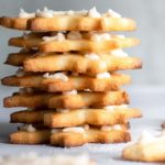 A pile of almond flour sugar cookies