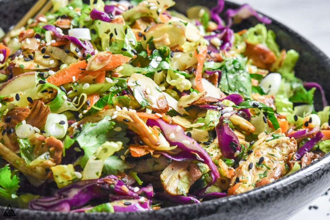 One of the best low carb chicken salad recipes is chinese chicken salad